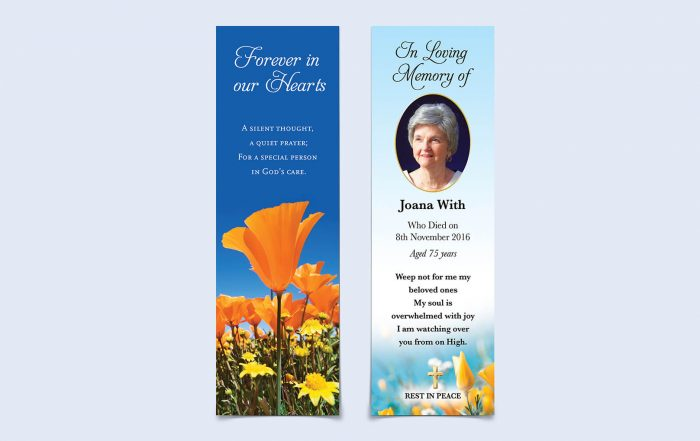 in loving memory - bookmarks
