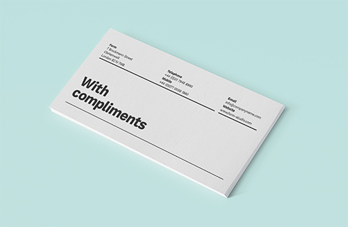 compliment slips by Print Ready