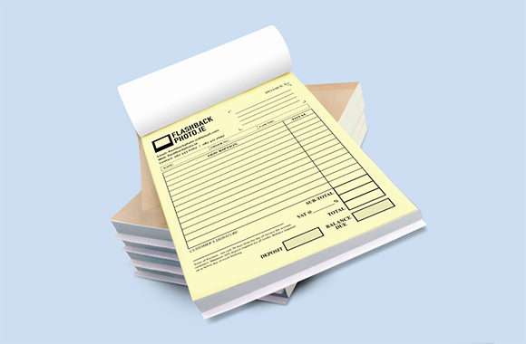 personalised invoice books