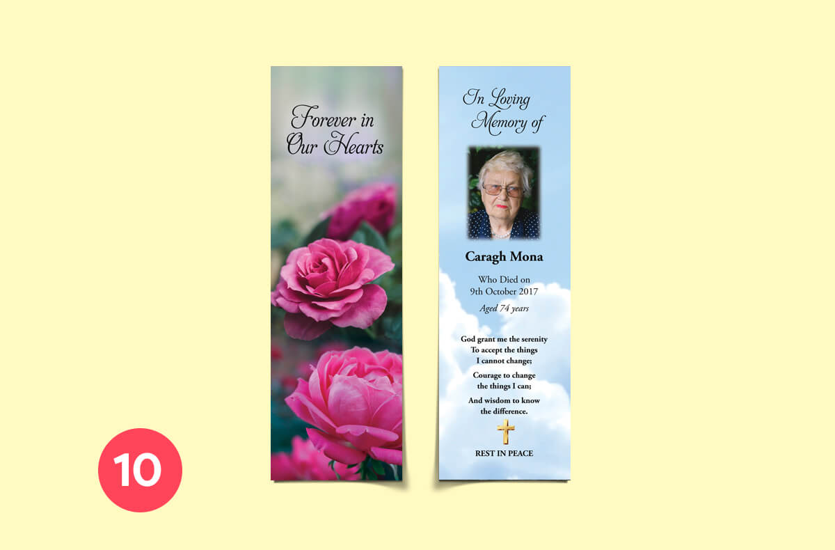 forever in our hearts - personalised bookmarks