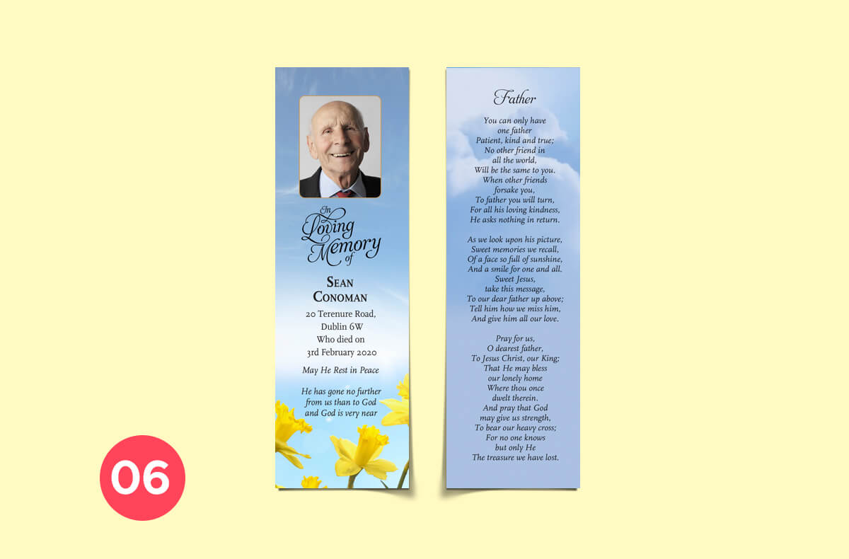 personalised bookmarks - father
