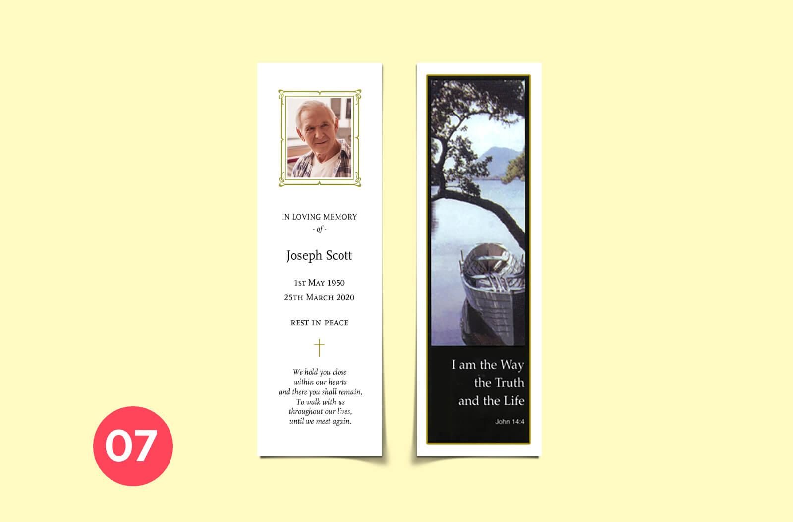 bookmark memorial cards printing online