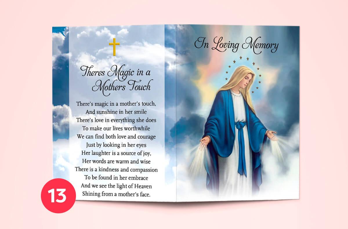 memorial cards dublin - print ready