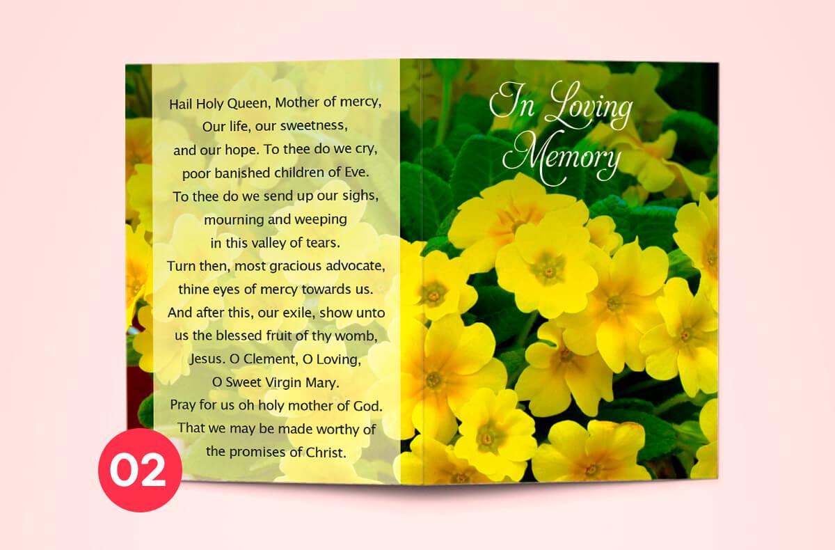 memorial cards - in loving memory