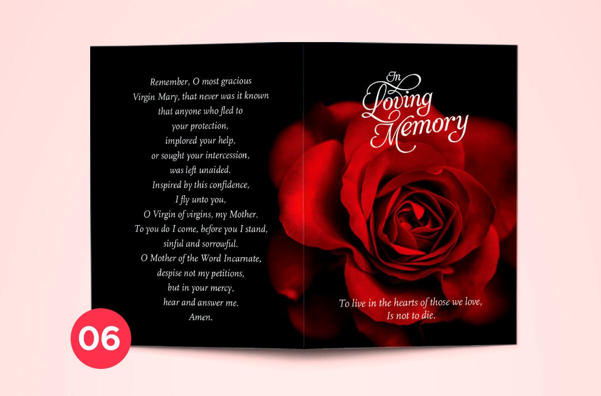 Dublin printing - memorial cards