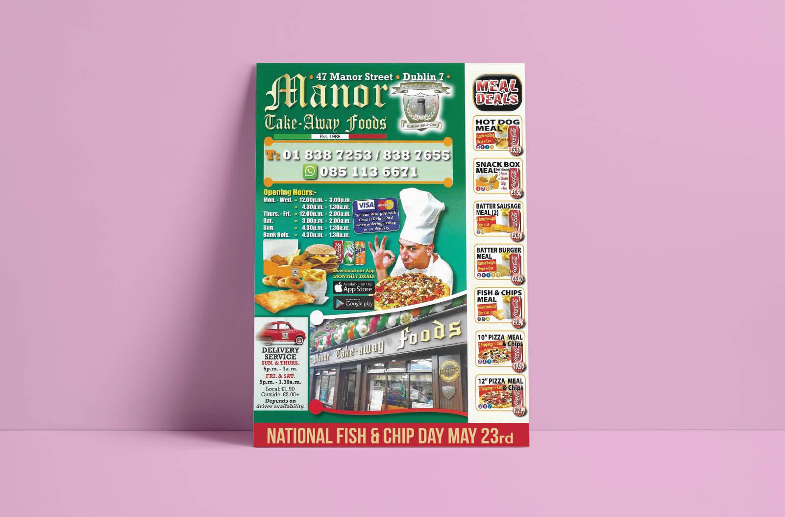 cheap menu printing - print ready