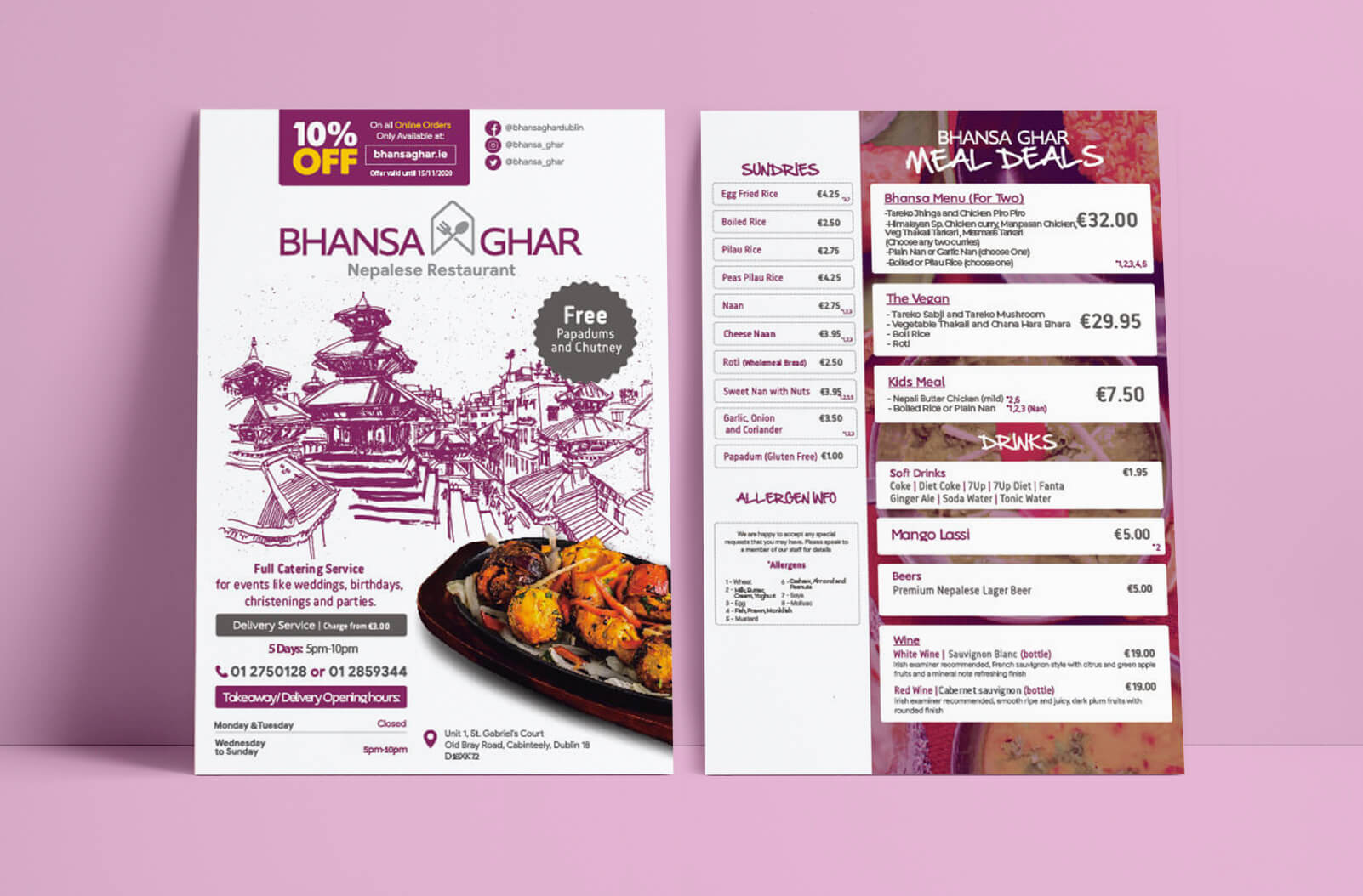 affordable menu printing