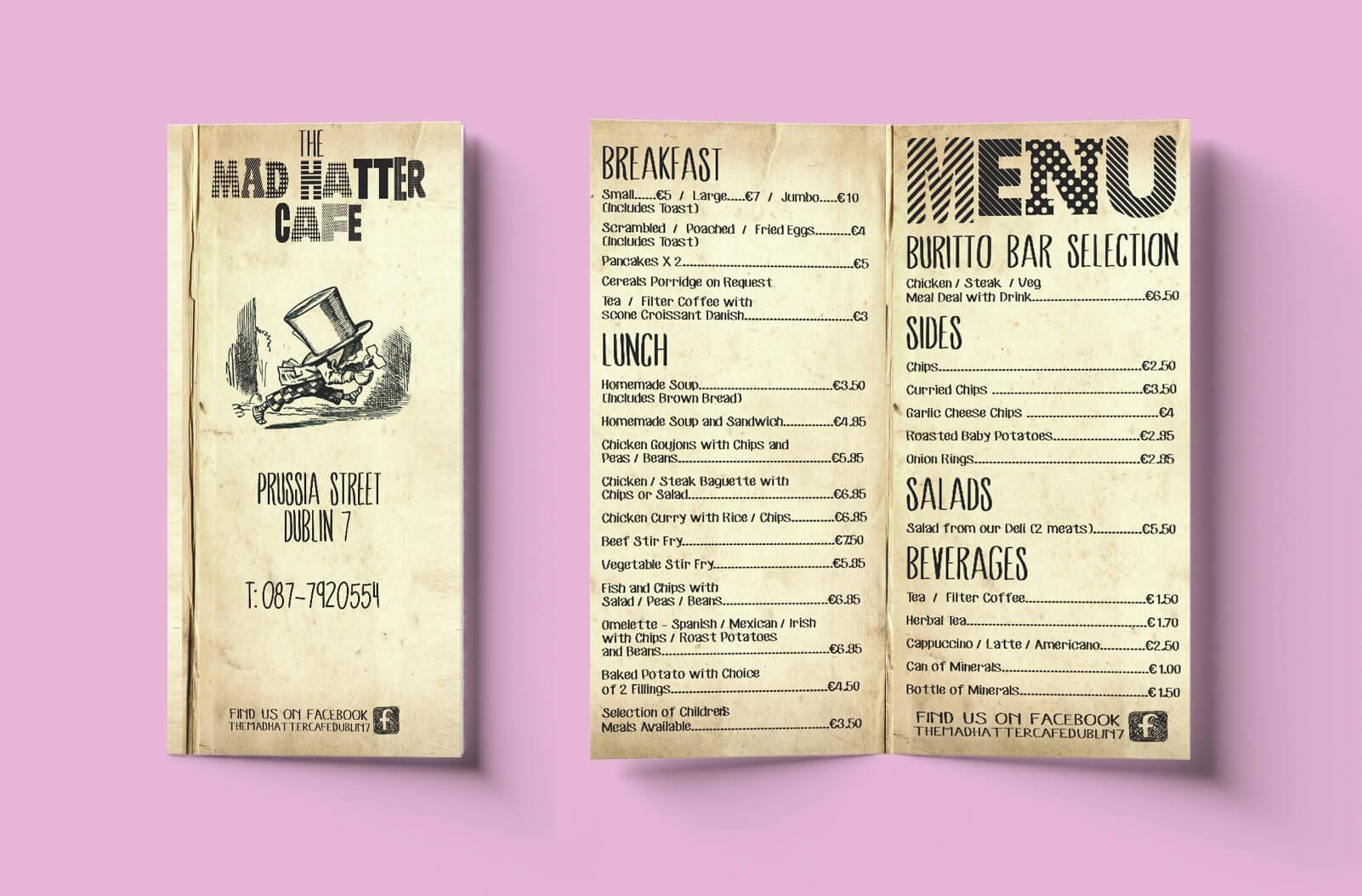 affordable menu printing online