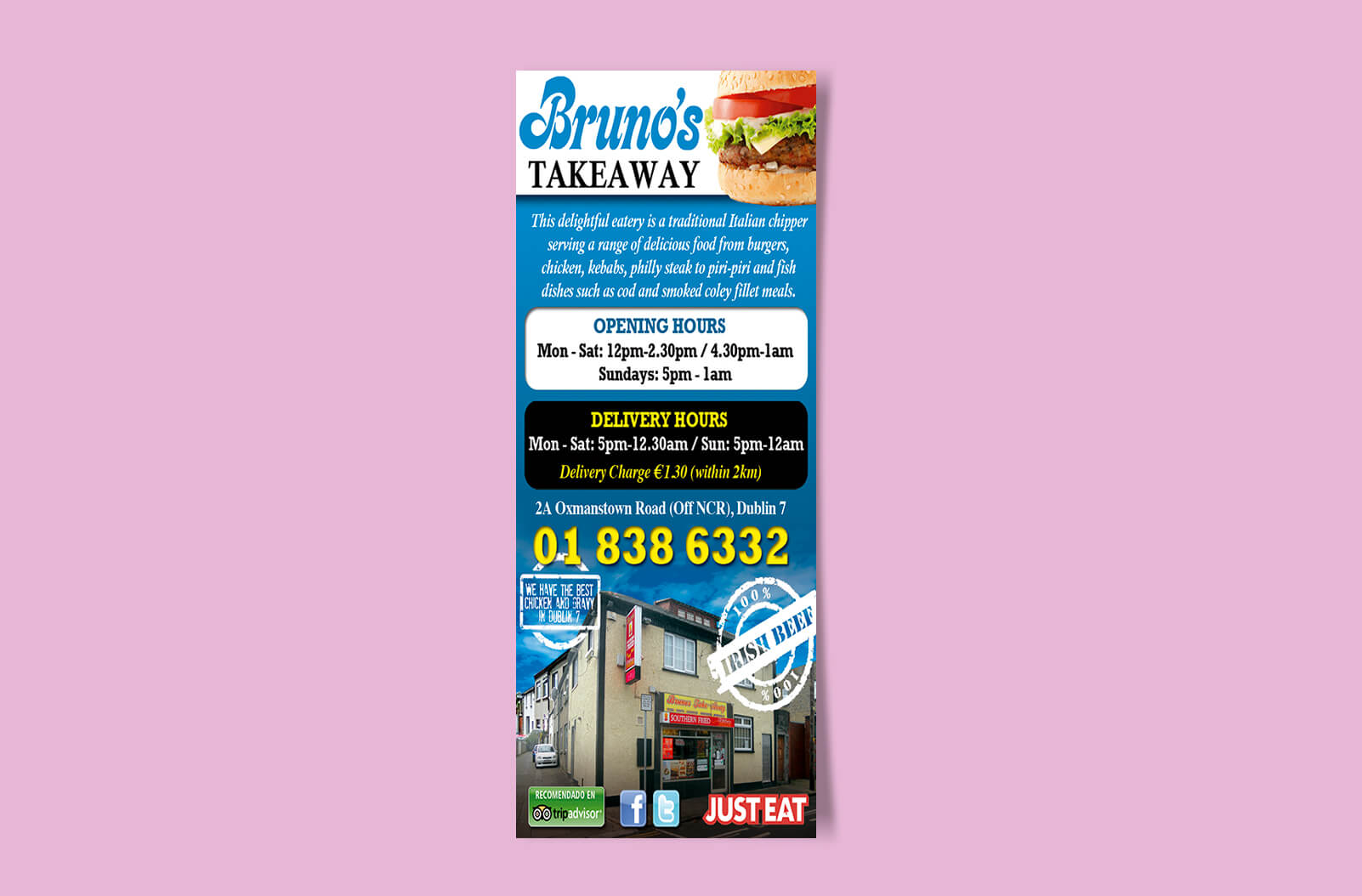 affordable menu and takeaway printing