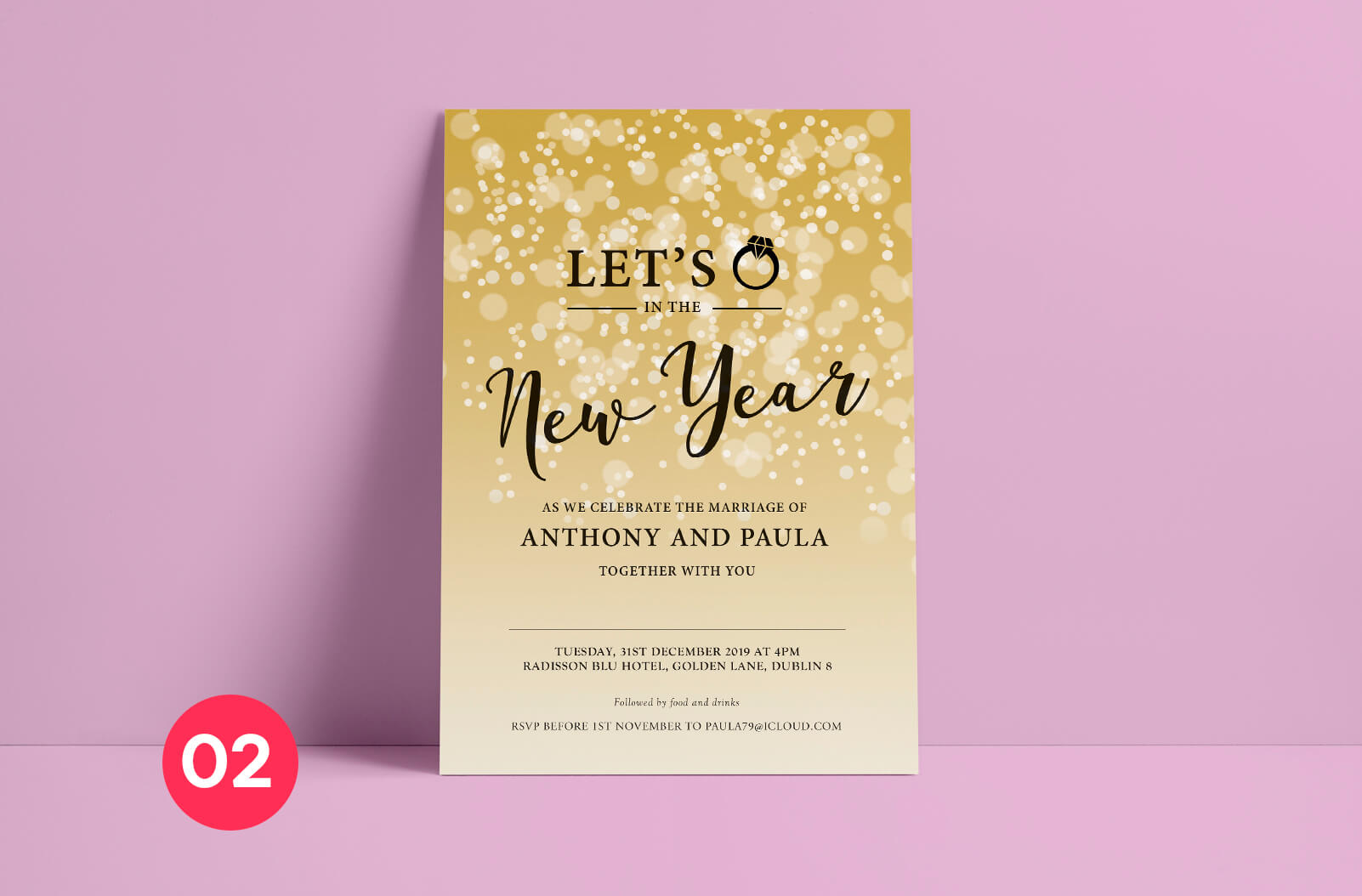 Wedding Invitation - Print Ready Dublin