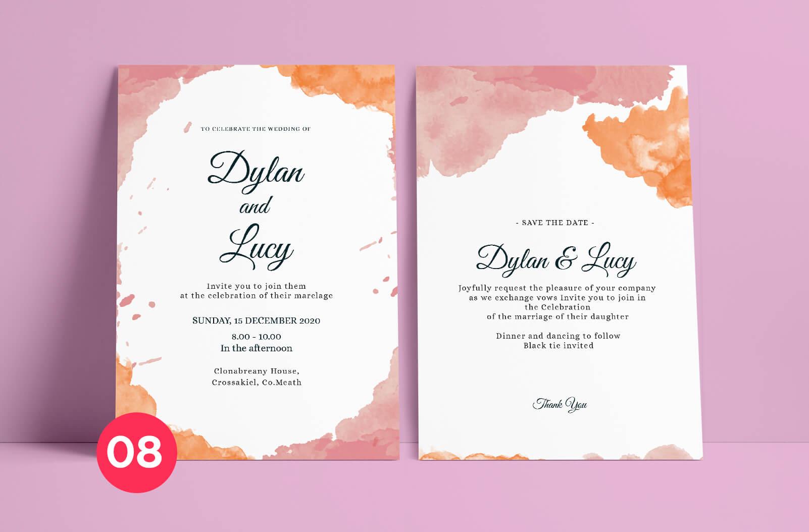 Wedding Invitation Mockup - Print Ready Dublin