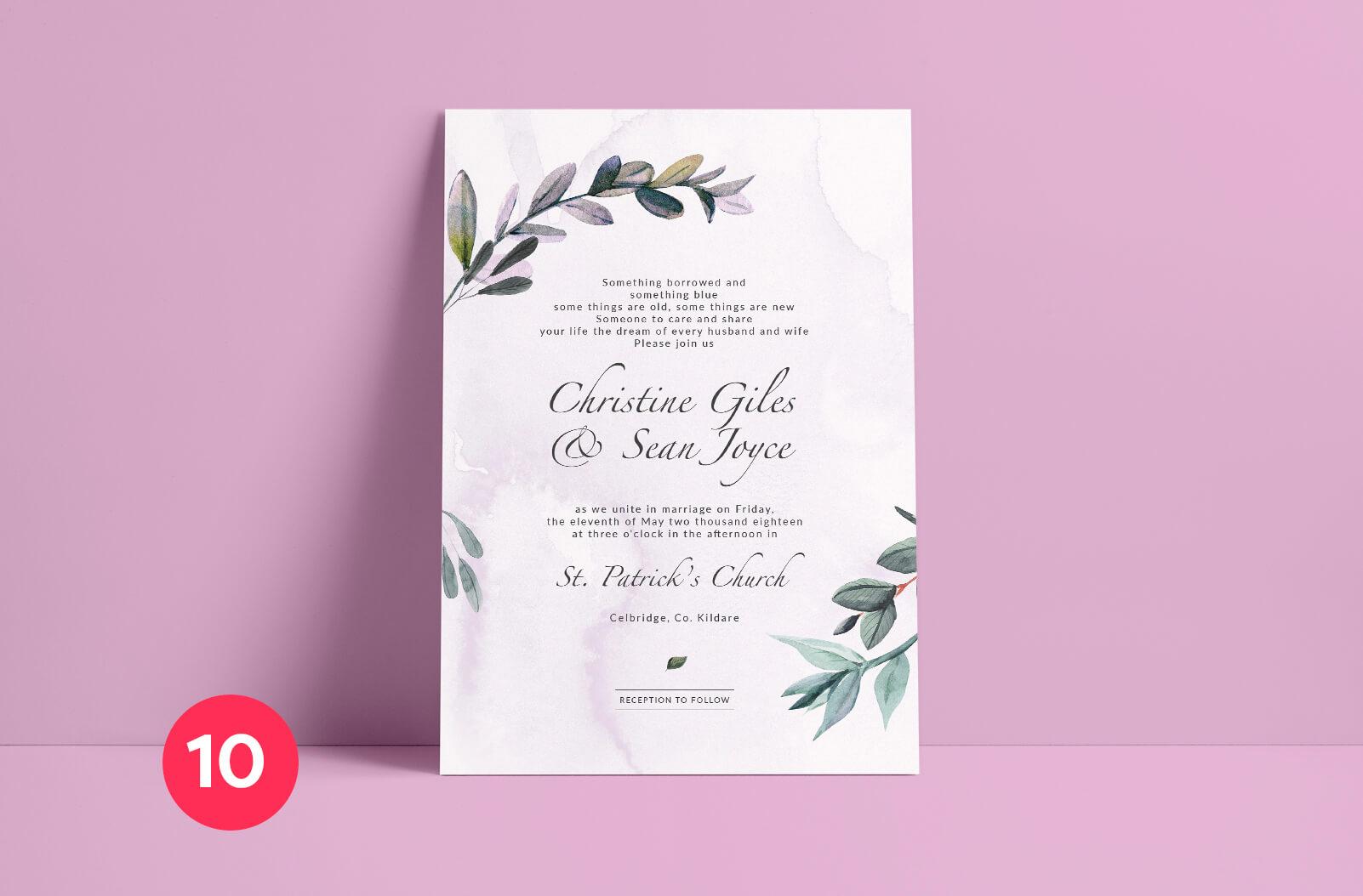 Wedding Invitation Mockup - Print Ready Ireland