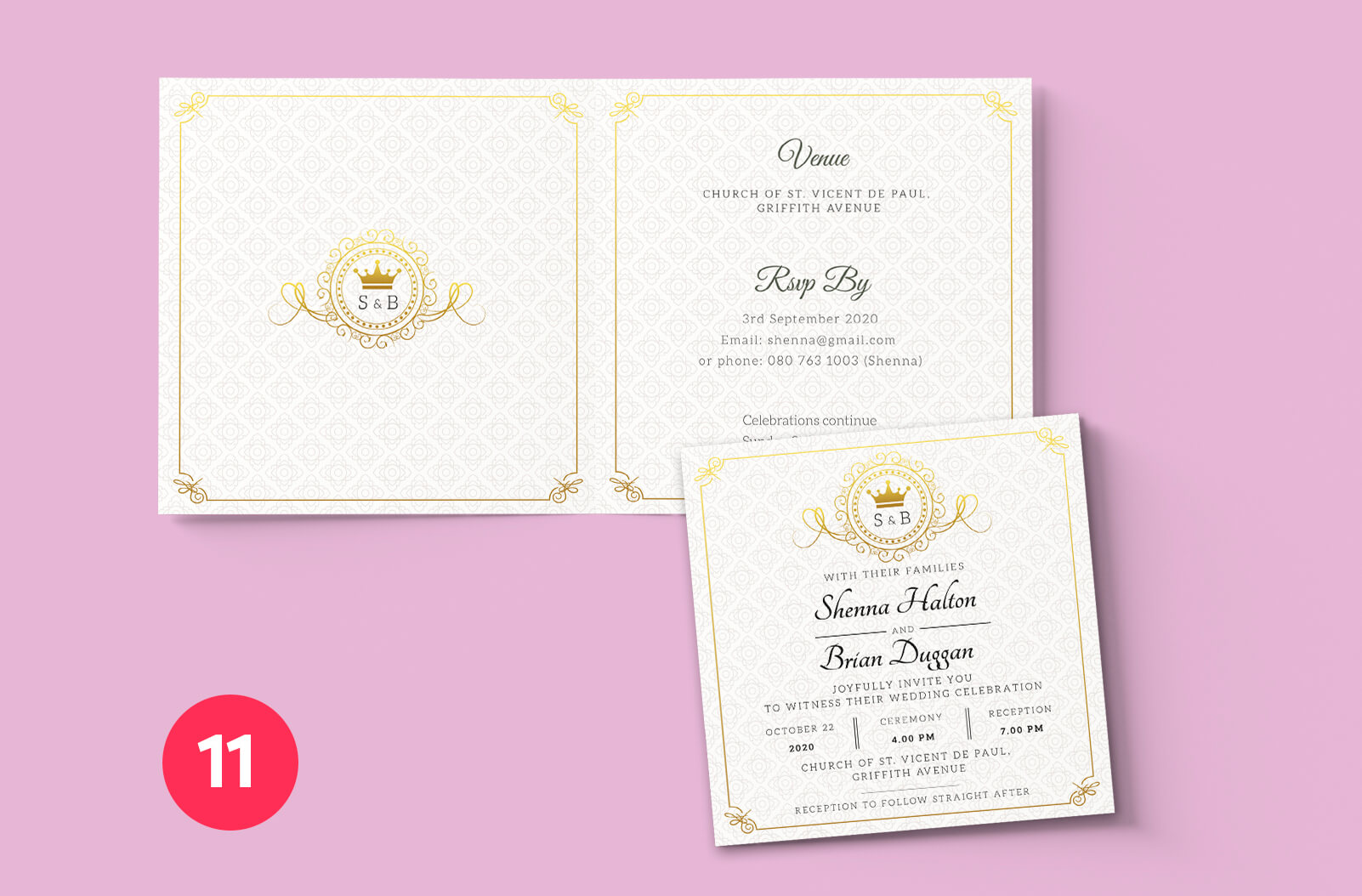 Print Ready Dublin - Wedding Invitation Mockup