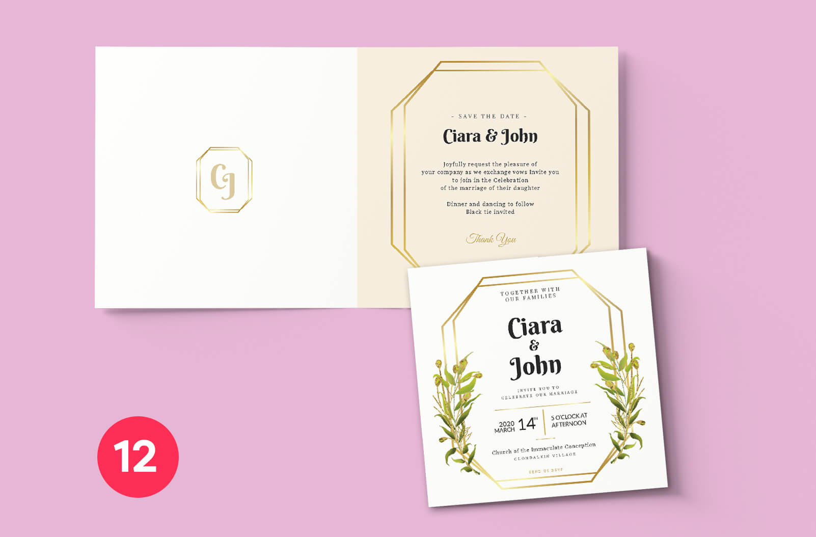 Wedding Invitation Dublin - Print Ready