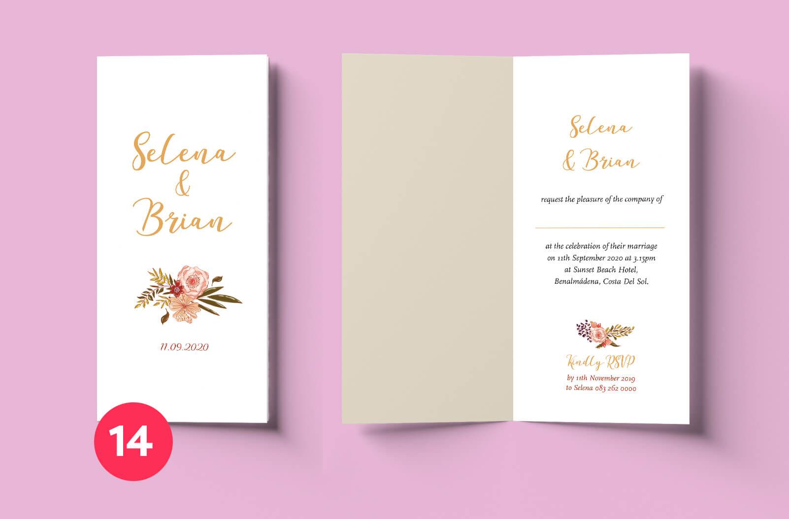 affordable Wedding Invitation