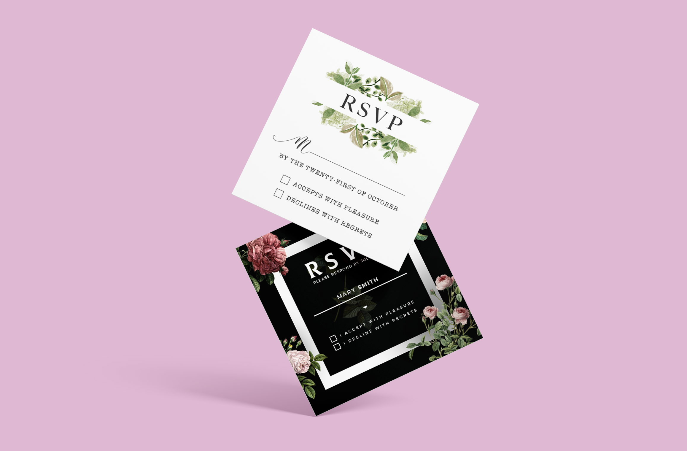 RSVPs Wedding Printed