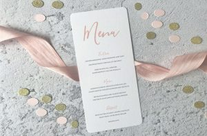 Wedding Menus available