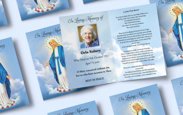 memorial cards printing