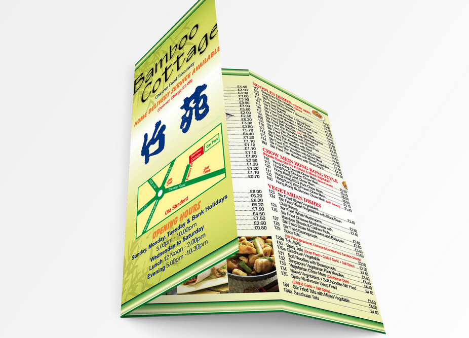 laminated menu printing in Dublin