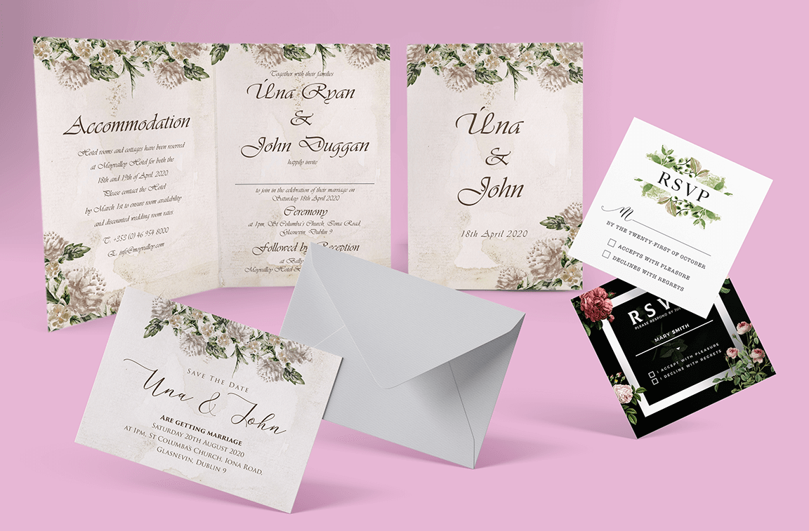Wedding mockup design